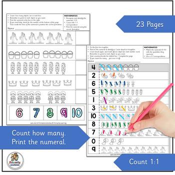 Nursery Rhymes Number Activities: Jack and Jill Math (SASSOON)