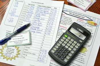 Math Activity (Restaurant Bill)