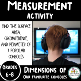 Measurement Activity For Area, Circumference, and Perimeter