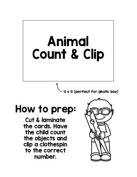 Math Activity: Count and Clip Animals