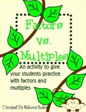 Math Activity: Factors vs. Multiples