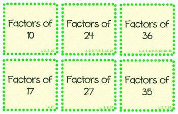 Math Activity: Factors vs. Multiples