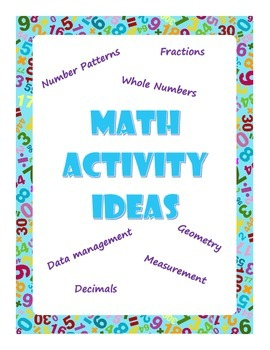 Math Activity Ideas