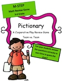 M-Step Math Activity Test Prep Review Game Pictionary 3rd Grade