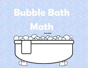 Math Activity Mats: Bubble Bath Math