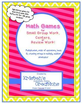 Math Activity Series High-Interest Games for Lower-level Skills Common Core