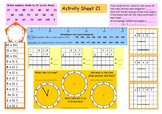 Math Activity Sheets (11-20) for grades 2 to 4