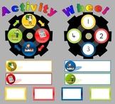 Math Activity Wheel - Rotate a Task Display