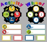 Math Activity Wheel - Rotate a Task Display