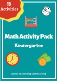 Math Activity pack - Kindergarten