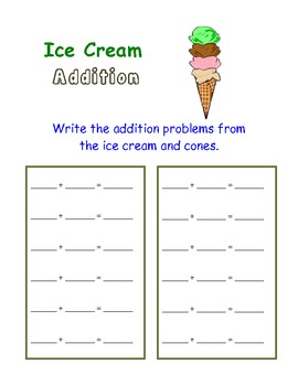 """Math Activity with Sums up to 20"" -For Individuals or Centers"