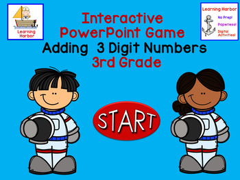 Math Adding 3 Numbers Interactive PowerPoint CGI and Common Core Problem Type