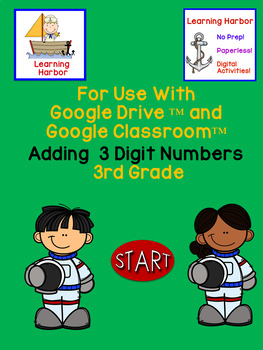 Math Adding 3 Numbers for Google Classroom™ CGI and Common Core Problem Type