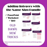 Math: Adding Integers with the Same Sign Bundle