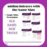Math: Adding Integers with the Same Sign Google Slides Presentation