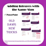 Math: Adding Integers with the Same Sign PowerPoint