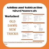 Math: Adding and Subtracting Mixed Numeral Worksheet