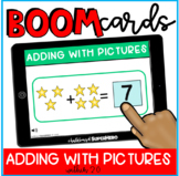 Math: Adding with Pictures BOOM CARDS {distance learning}