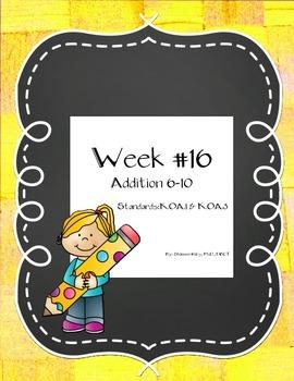 Math Week #16 Addition #'s 6-10