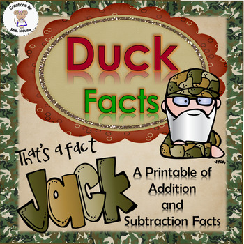 Math- Addition/Subtraction - Duck Facts