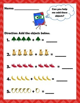 Math: Addition - Adding objects using numbers 1-5.