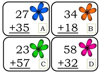 Math 2-Digit w/regrouping Spring Edition