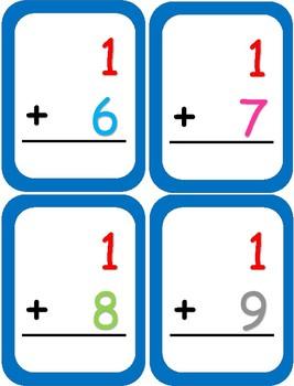 Math Addition Cards (Legos, Snap Cubes)