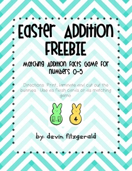 Math Addition Facts 0-5 FREEBIE