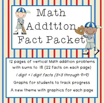 Math Addition Facts Bundle