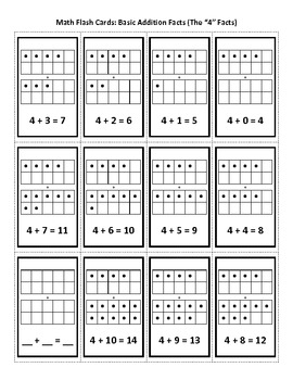 math addition flash cards 0 facts through 10 facts by david dicrescenzo. Black Bedroom Furniture Sets. Home Design Ideas