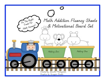 Math Addition Fluency and Motivational Board Set