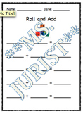 Math Addition Game- Roll and Add