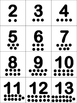 Math Addition Pocket Chart- with dots to help with additio
