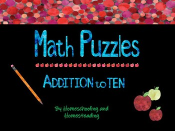 Math Addition Puzzles: Sums to 10