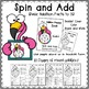 """Math Addition Spinner Game  """"Spin and Add"""""""