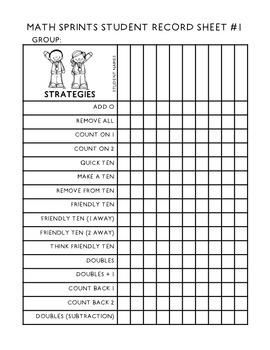 Math Sprints {Grade 1 Edition}