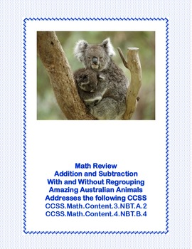Math-Addition & Subtraction With and Without Regrouping-Amazing Australia