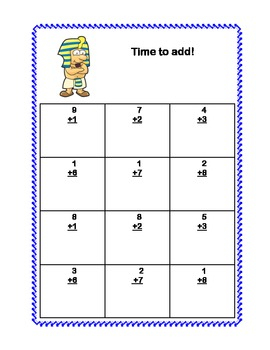 Math Addition & Subtraction Within 20 Worksheets-Ancient Egyptian Theme