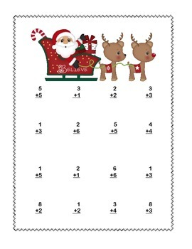Math Addition & Subtraction Within 20 Worksheets Christmas Fun