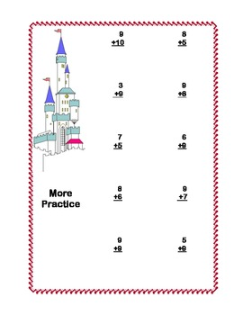 Math Addition & Subtraction Within 20 Worksheets-Fantasy Theme CCSS Math Content