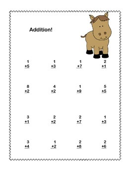 Math Addition & Subtraction Within 20 Worksheets-Fun Cowboy Theme