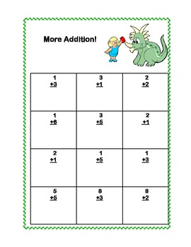 Math Addition & Subtraction Within 20 Worksheets-Fun Dinosaur Theme