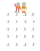 Math Addition & Subtraction Within 20 Worksheets Robots Theme