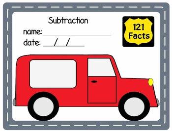 Math Addition & Subtractions Facts Unit: Vans