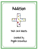 Math Addition Task Card Sheets