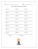 Math Addition Worksheet