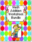 Math Addition Worksheet Bundle