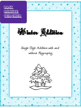 Math Addition Worksheet - Single Digit Addition with and without regrouping
