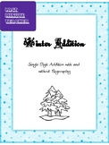 Math Addition Worksheet - Single Digit Addition with and w