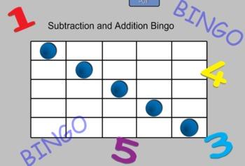 Math Addition and Subtraction Bingo